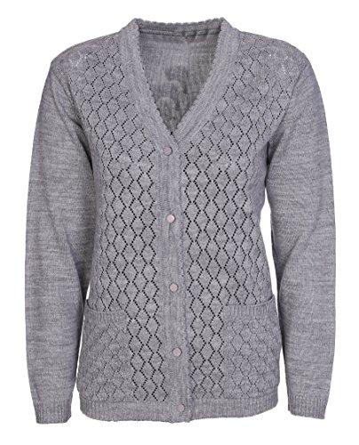 Lets Shop Shop - Cárdigan - para mujer gris