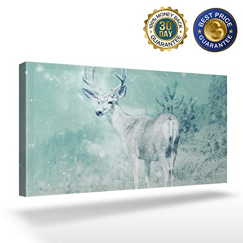 OUR WINGS Canvas Print Wall Art Decor Forest Wildlife Deer Wall Art Painting The Picture Print On Canvas for Home Modern Decoration 8x16in]()