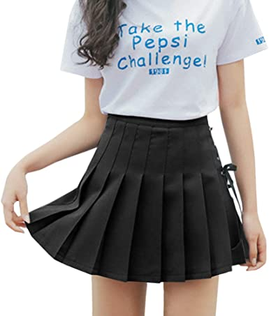 Falda de tenis plisada para mujer de talle alto con forro