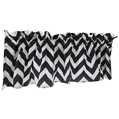 - Crabtree Collection Curtain Valance for Windows Navy Blue Chevron (16 x 60) …