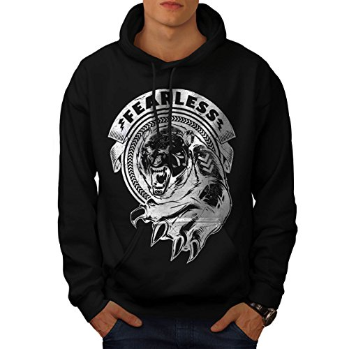 [Fearless Wild Animal Tiger Bear Men S Hoodie | Wellcoda] (Bear Jew Costume)