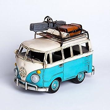 WYJ Café Retro VW Surf Bus Modell Dekoration Ideen Home Dekoration , Blue