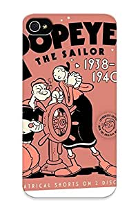 Case For Iphone 4/4s Tpu Phone Case Cover(popeye The Ailor 1938 To 1940 Information ) For Thanksgiving Day's Gift