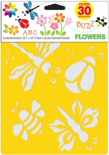Delta Creative Stencil Mania 7x10 Stencil 3-Pack: Flowers