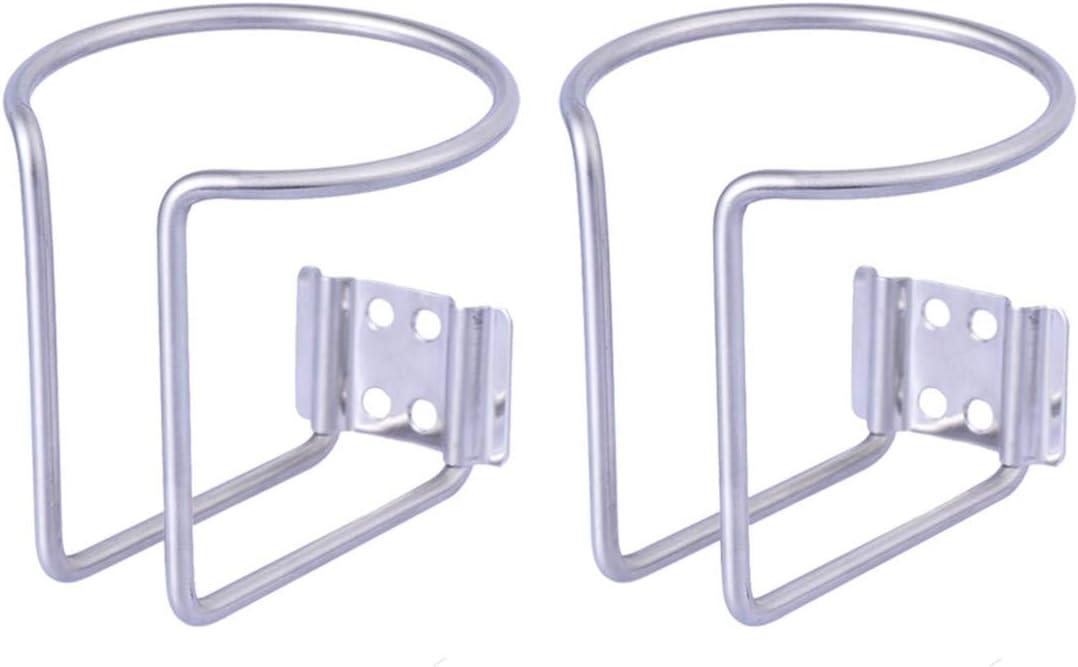 Vosarea Soporte para bebidas con anillo de acero inoxidable, 2 unidades (7,5 cm)