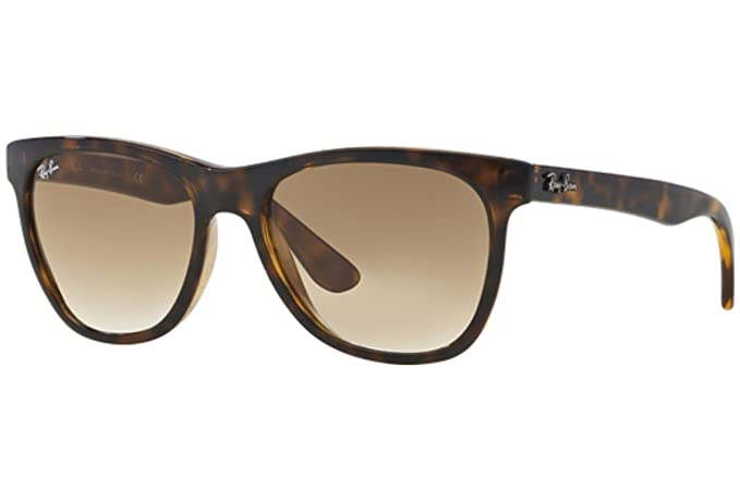 e34784e4f14 Ray-Ban Men s Gradient Highstreet RB4184-710 51-54 Tortoiseshell Square  Sunglasses