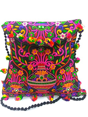 Handmade Tote Bag Purse (Embroidery gypsy ethnic Vintage boho hobo Sling cross body shoulder bag messenger evening)