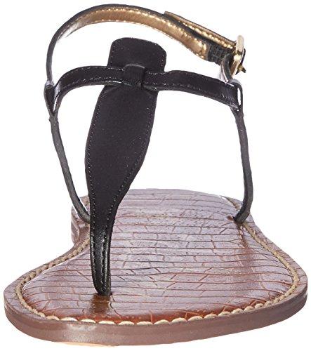 Sam Edelman Gigi Sandalias de tanga de la mujer True Black Leather