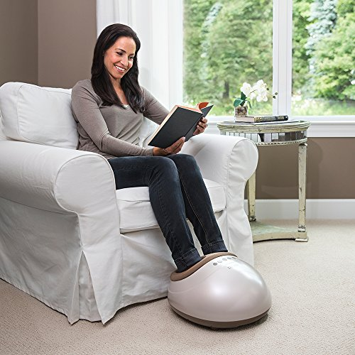 HoMedics Shiatsu Air Pro Foot Massager with Heat | Air Compression, Warming Massage, Targets Knots & Pressure Points, Deep-Kneading | Soothes Tired Feet