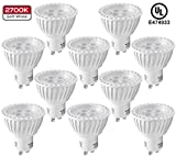 10 Pack MR16 GU10 LED Light Bulb, 5W (50W Equivalent), 2700K Soft White, 36° Beam Angle, UL-listed, Track Lighting, Recessed Light, 2 YEARS WARRANTY, Non-Dimmable