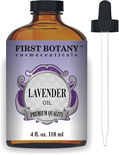 Bulgarian Lavender Essential Oil - First Botany Cosmeceuticals Lavender Essential Oil with a Glass Dropper, 4 oz (Natural Isolates)