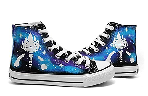 Bromeo One Piece Unisexe Toile Salut-Top Sneaker Baskets Mode Chaussures Lumineux