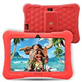 Dragon Touch Y88X Plus 7 inch Kids Tablet 2017 Version, Kidoz Pre-Installed with All-New Disney Content (more than $80 Value) - Red