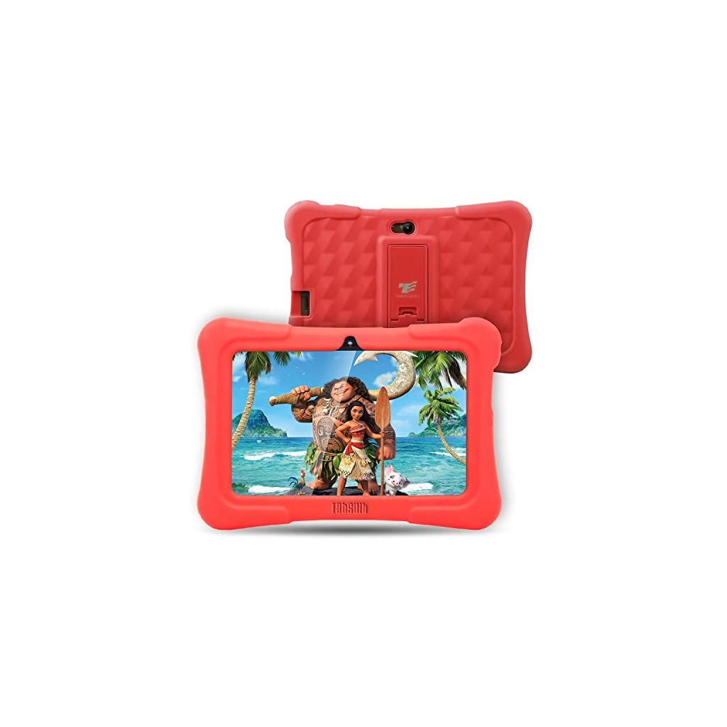 Dragon Touch Y88X Plus 7 inch Kids Tablet, Kidoz Pre-Installed Disney Content (More Than $80 Value) (d.Red)