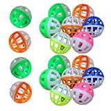 18Pcs/Set Plastic Pet Cat Kitten Play Balls With Jingle Bell Pounce Chase Rattle Toy pet toys 4cm