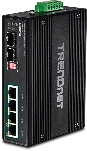 TRENDnet 6-PORT INDUSTRIAL GIGABIT PoE+ DIN- RAIL SWITCH 12 – 56 V, ALARM RELAY - Industrial Relay Slot