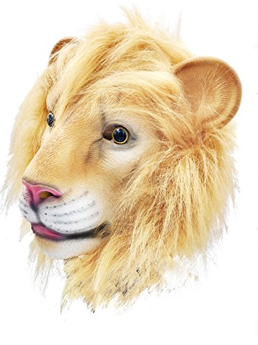 BuBinga Novelty Lion Animal Head Halloween Costume Masks Party Cosplay Decorations ()
