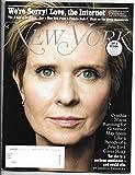 New York Magazine ~ April 16-29 2018 ~ CYNTHIA NIXON