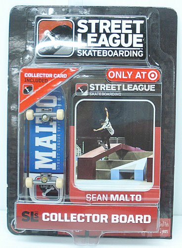 Pro Street Collector (Street League Skateboarding Pro Series 1 Blue Skateboard & Sean Malto Collector Card Target Exclusive)