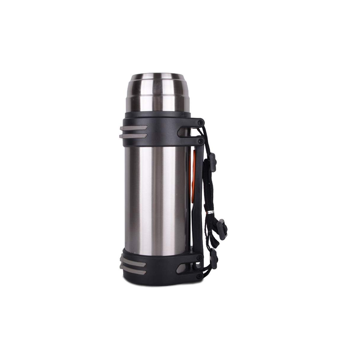 Tongboshi Insulation Cup, Outdoor Household Travel Multi-Purpose Insulated Water Bottle, Large Capacity Water Cup, Sports Portable Army Fan Stainless Steel Large Capacity Car Water Cup, Silver