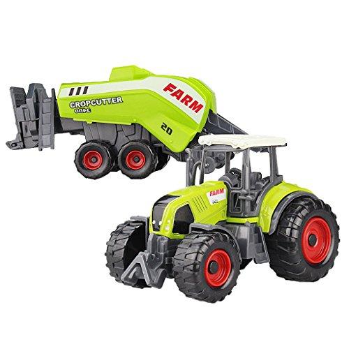 Lovoski 全10色選ぶ 耐久性 ABSプラスチック&合金製 ミニ 農場車両モデル ダイキャスト 装飾 子供 ゲーム おもちゃ ギフト - #2