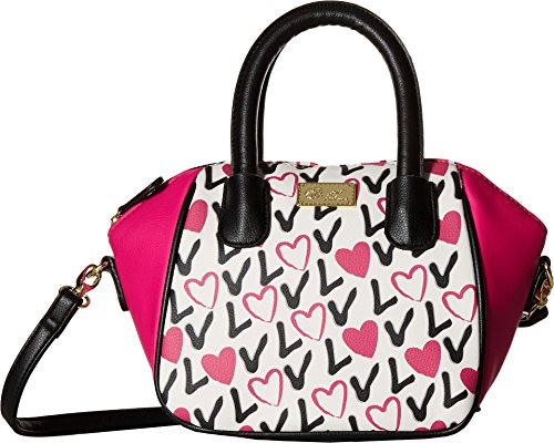 Luv Betsey Women's Quinn Mini Size PVC Satchel Love Pink-Az One Size by Luv Betsey