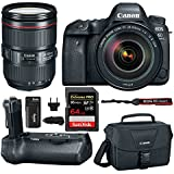Canon EOS 6D Mark II Professional Digital Camera: 26 Megapixel Touchscreen Full Frame DSLR Bundle with Canon EF 24-105mm USM Lens BG-E21 Battery Grip 64GB SD Card SLR Bag & Spare Battery With Charger