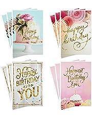 Hallmark Assorted Birthday Greeting Cards, Pretty Pinks