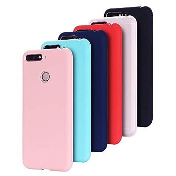 6X Funda Huawei Y6 Pro 2017 Silicona Carcasa Suave Flexible TPU Gel CoverTp Ultra Fina Delgado Case Cubierta Protectora Caja para Huawei Y6 Pro ...