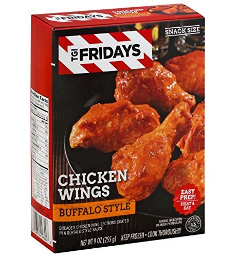 (TGI Friday's Buffalo Style Chicken Wings, 9 oz, (8 count) )