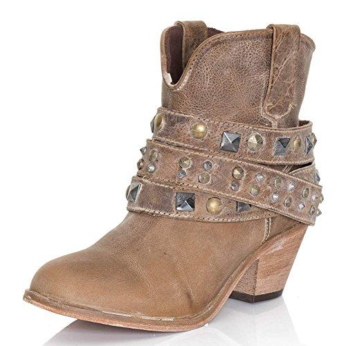 Corral Womens P5020 Cinturino Alla Caviglia Con Borchie Stivali Sella Antica