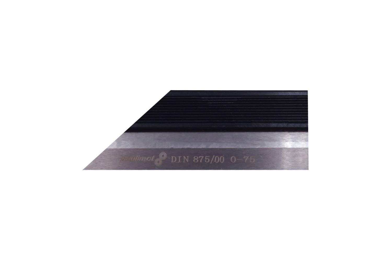 PAULIMOT Pr/äzisions-Haarlineal 75 mm rostfrei INOX DIN 874//00