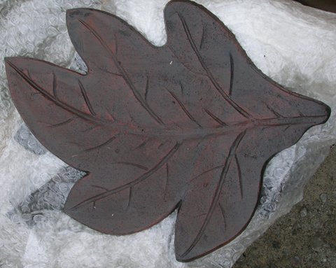 Sugar Maple Leaf Stepping Stone