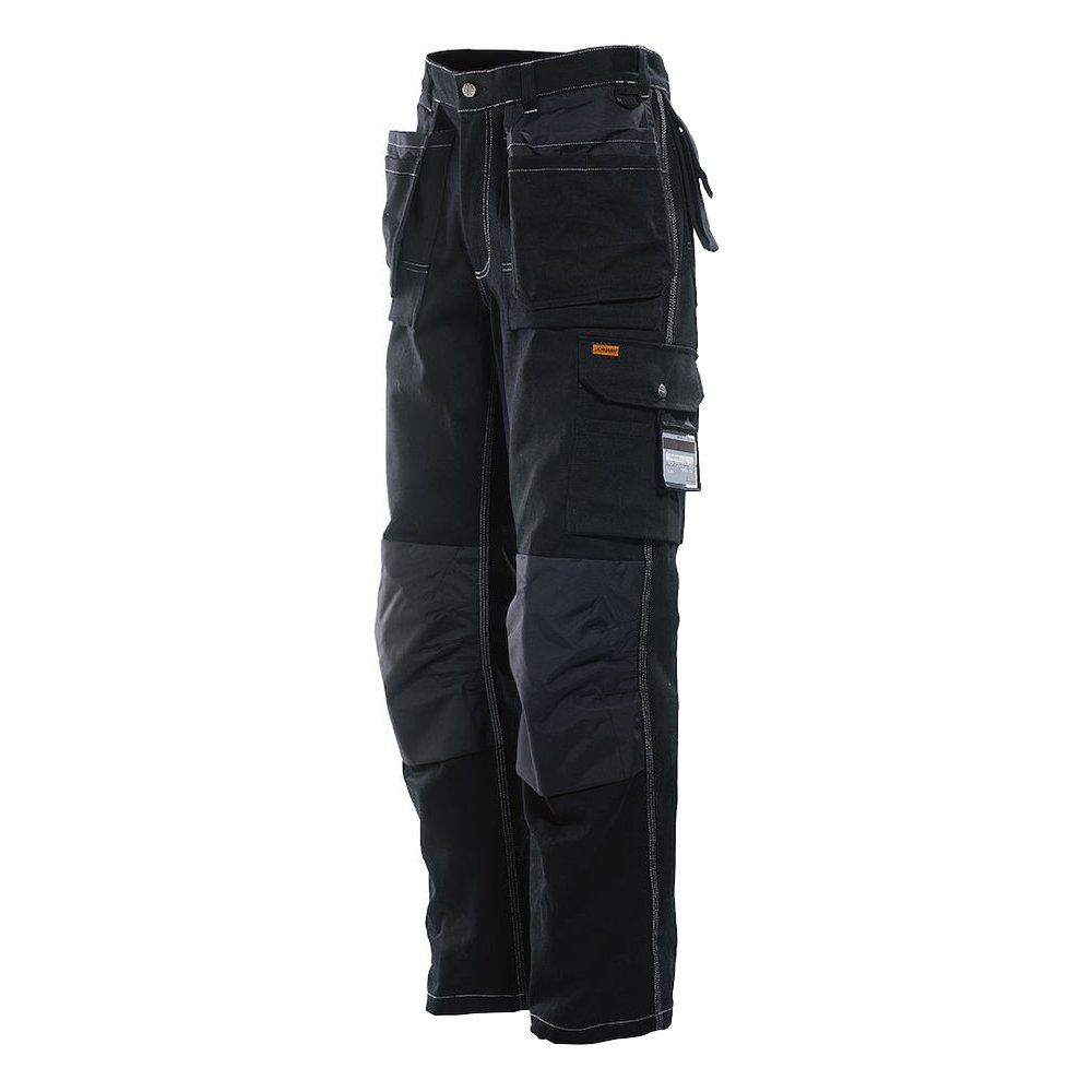 JOBMAN Workwear PANTS メンズ B00CO8HURC 30W x 30L|ブラック ブラック 30W x 30L