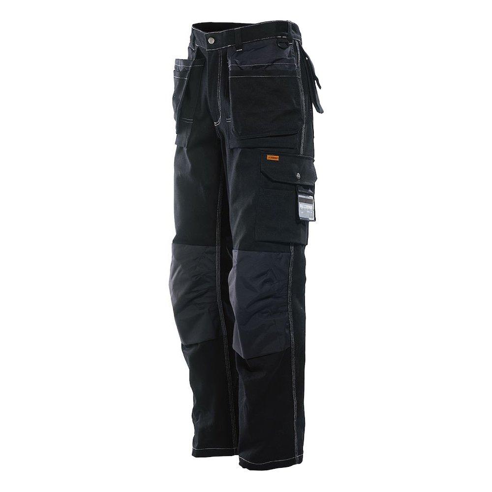 JOBMAN Workwear PANTS メンズ B00IDEJCQ8 32W x 28L|ブラック ブラック 32W x 28L