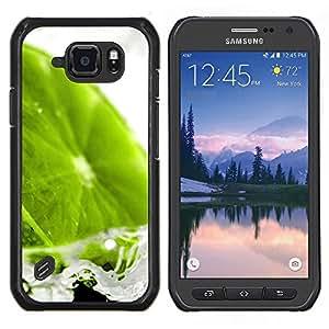 EJOOY---Cubierta de la caja de protección para la piel dura ** Samsung Galaxy S6Active Active G890A ** --Naturaleza Hermosa Forrest Verde 112