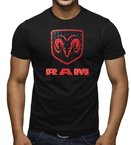 Men's Dodge RAM Logo Black T-Shirt Medium Black