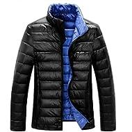 [Sponsored]ZSHOW Men's Lightweight Stand Collar Packable Down Jacket