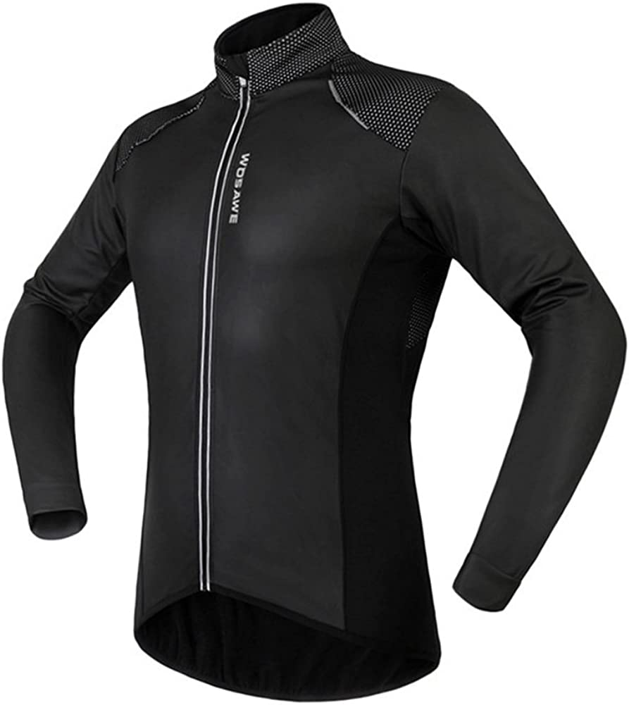 Outdoor Peak Fleece Cycling Jacket Mens Women Windproof Thermal Long