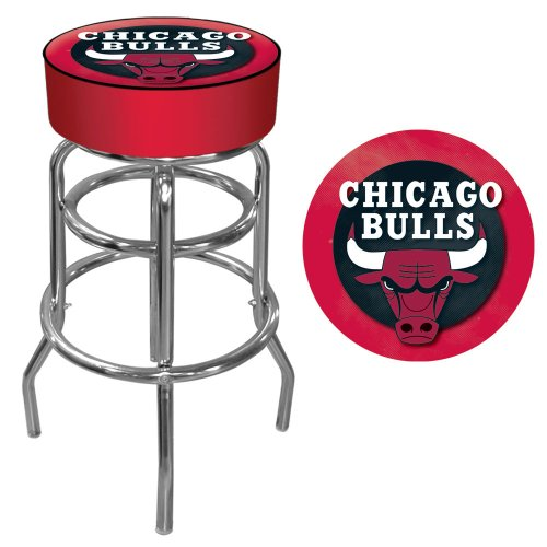 Trademark Gameroom NBA Chicago Bulls Padded Swivel Bar Stool by Trademark Gameroom