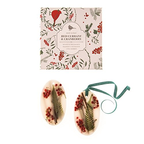 Rosy Rings Red Currant Cranberry Oval Wax Sachets -Set of 2