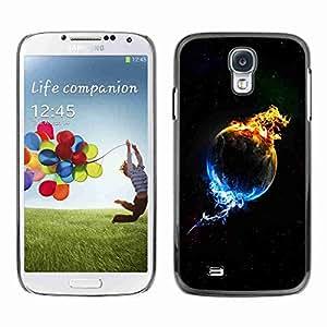 Planetar® ( Plant In Flames & Ice ) Fundas Cover Cubre Hard Case Cover Samsung Galaxy S4 IV (I9500 / I9505 / I9505G) / SGH-i337