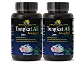 Testosterone booster for men over 50 - TONGKAT ALI ROOT PREMIUM EXTRACT 200 : 1 - Tongkat ali extract 200 to 1 powder - 2 Bottles - 120 Capsules