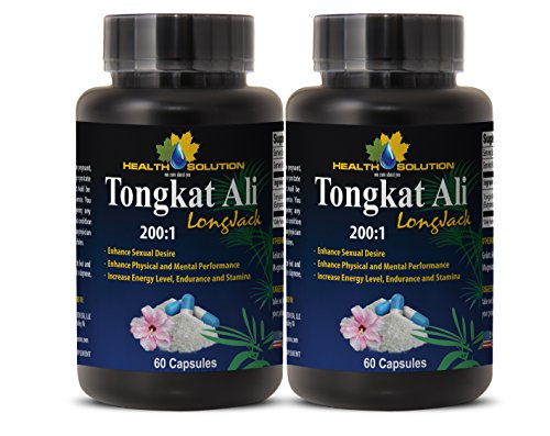 Sex desire for women - TONGKAT ALI ROOT PREMIUM EXTRACT 200 : 1 - Tongkat ali women - Tongkat ali longjack bumi - 2 Bottles - 120 Capsules