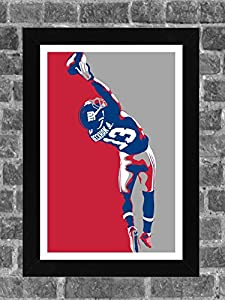 New York Giants Odell Beckham Jr Portrait Sports Print Art 11x17