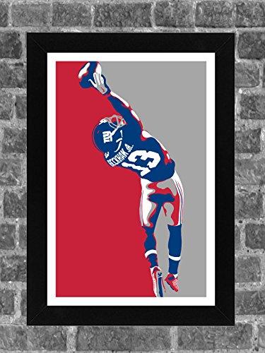 New York Giants Odell Beckham Jr Portrait Sports Print Art