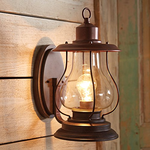 (Black Forest Décor Weathered Patina Lantern Wall Sconce - 6 Inch)