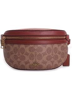 2aca57ba Amazon.com: COACH Women's Polished Pebble Dressy Belt Bag Black/Gold ...