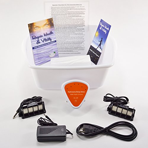 FOOT SPA - New Improved Model for 2016 - Ionic Cleanse Detox Foot Bath - Spa Chi Cleanse Unit for Home Use. NEW ERGONOMIC FOOT BASIN. by BHC