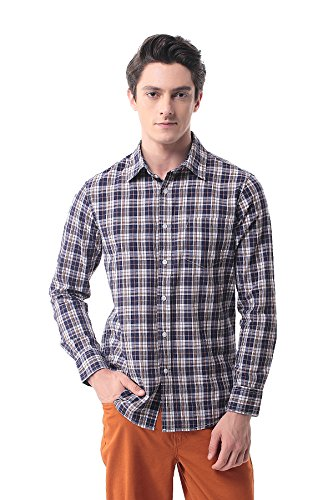 Pau1Hami1ton P-13 Plaid Shirt Cotton Slim Fit Camicia da uomo 12
